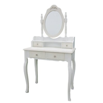 Château Chic Dressing Table with Mirror