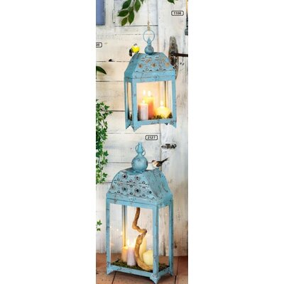 Château Chic Montpellier 2-Piece Metal and Glass Lantern Set