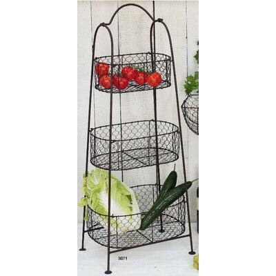 Château Chic Beauté Basket Tiered Stand