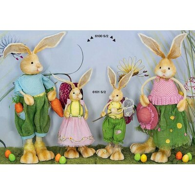 Château Chic 4 Piece Printemps Rabbit Figurine Set