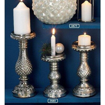 ChâteauChic Iris 3-Piece Glass Candlestick Set
