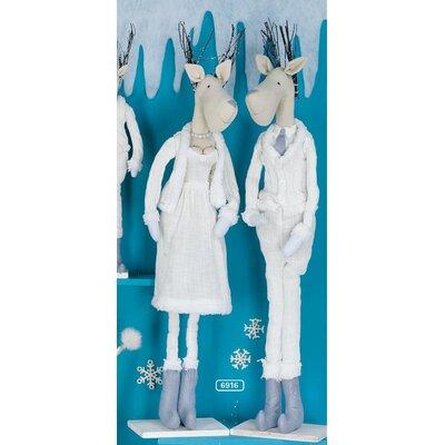 ChâteauChic Set of 2 Winter Elk Figurines