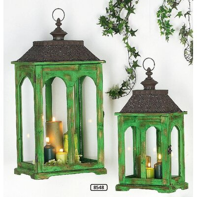 ChâteauChic Samuel 2-Piece Wooden Lantern Set