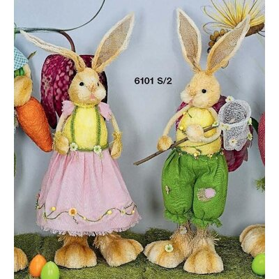 Château Chic 2 Piece Printemps Rabbit Pair Figurine Set
