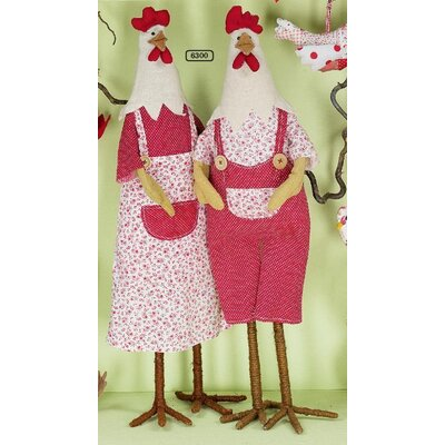 ChâteauChic Farmer Hen and Rooster Figurine Set