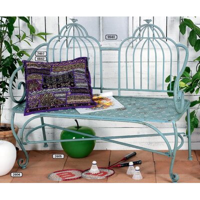 Château Chic Ucello Metal Hallway Bench