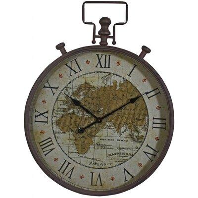 ChâteauChic Map Script Design Wall Clock