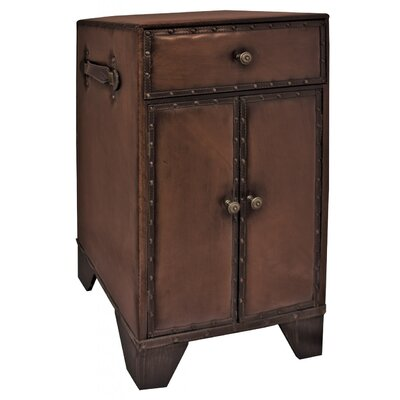 Château Chic Faux Leather 2 Door 1 Drawer Cabinet