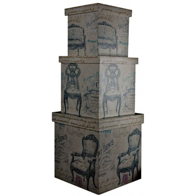 ChâteauChic 3 Piece Saint Denis Storage Box Set