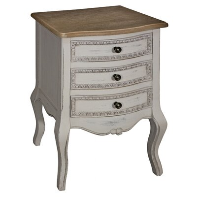 ChâteauChic Louisa 3 Drawer Bedside Table