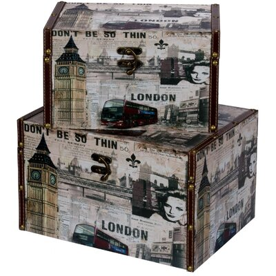 Château Chic 2 Piece London Trunk Set
