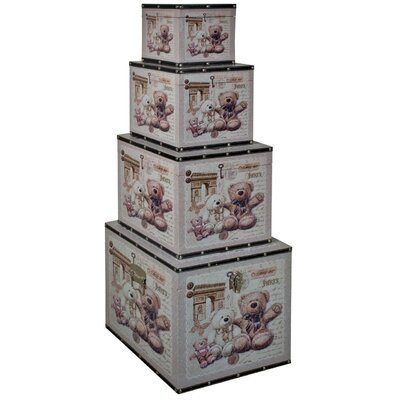 ChâteauChic 4 Piece Teddy Bear Storage Trunk Set