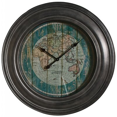 Château Chic 78 cm World Map Wall Clock