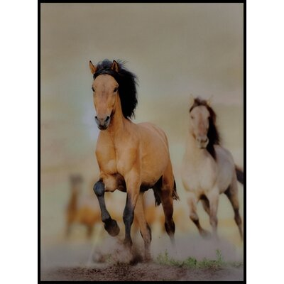 ChâteauChic Galloping Horses Glass Photographic Print