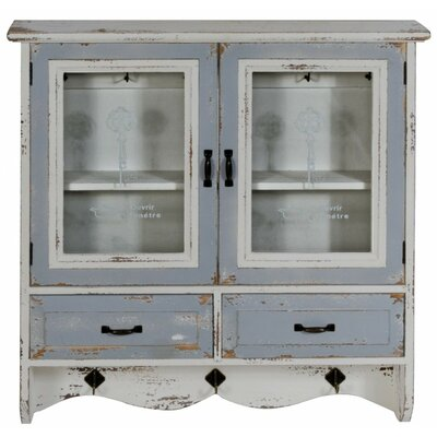 Château Chic Distressed 2 Door, 2 Drawer wall mounted Cupboard