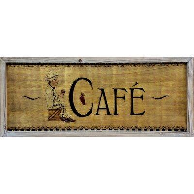 ChâteauChic Cafe Wooden Vintage Advertisement Plaque
