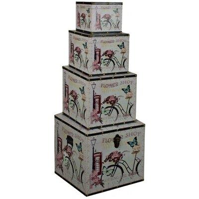ChâteauChic 4 Piece Flower Shop Storage Box Set