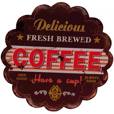ChâteauChic Fresh Brewed Coffee Typography Plaque
