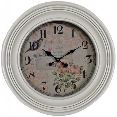 Château Chic 60 cm Flowers Of Romance Wall Clock