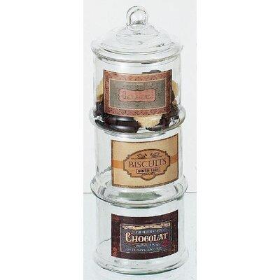 ChâteauChic Biscuits 3-Piece Jar Set