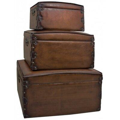 ChâteauChic 3 Piece Faux Leather Storage Box Set