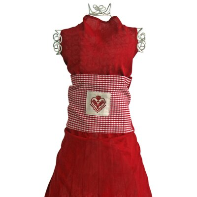 Vintage Boulevard Hailey Cotton Embroidered Heart Apron
