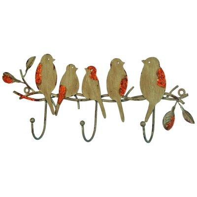 Vintage Boulevard Ethan Birds on Branch Wall Mounted Coat Rack