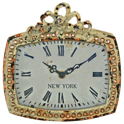 "Vintage Boulevard Aria ""New York"" Bow Clock"