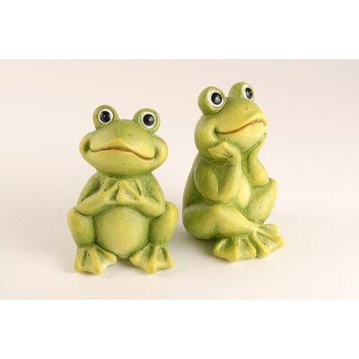 Vintage Boulevard 2-Piece Sitting Frogs Figurine Set