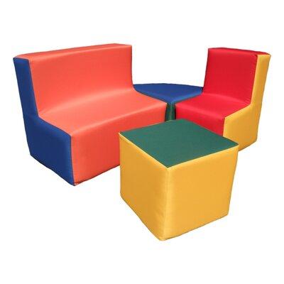 Wrigglebox Playtime 4 Piece Block Seating Set