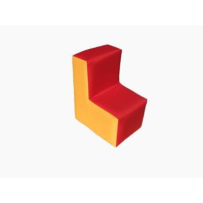 Wrigglebox Playtime Block Chair in Red/Yellow