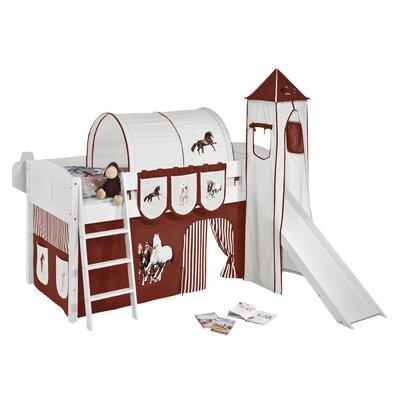 Wrigglebox Horses European Single Mid Sleeper Bed
