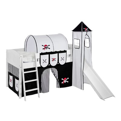 Wrigglebox Pirate European Single Mid Sleeper Bed