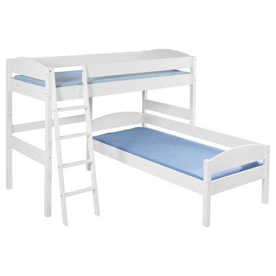 Wrigglebox European Single L-Shaped Bunk Bed