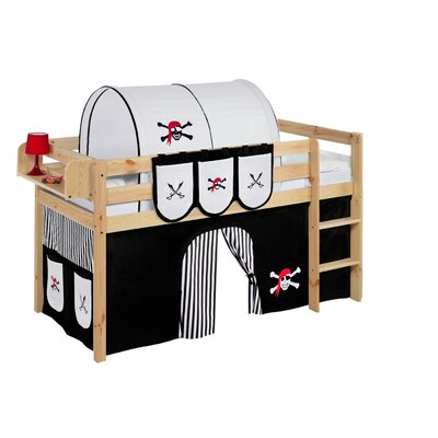 Wrigglebox Jelle Pirate Mid Sleeper Bed