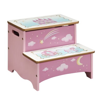 Wrigglebox Queen Wood Children's Storage Step Up Stool