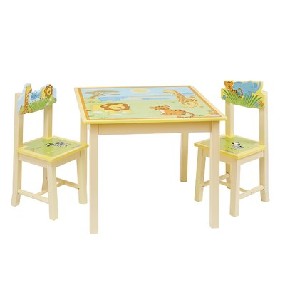 Wrigglebox Gracey Grins Children's 3 Piece Table and Chair Set