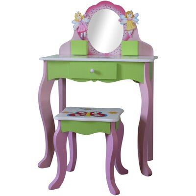 Wrigglebox Garden Friends Dressing Table Set with Mirror