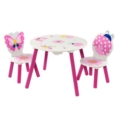 Wrigglebox Garden Friends Children's 2 Piece Round Table and Chair Set