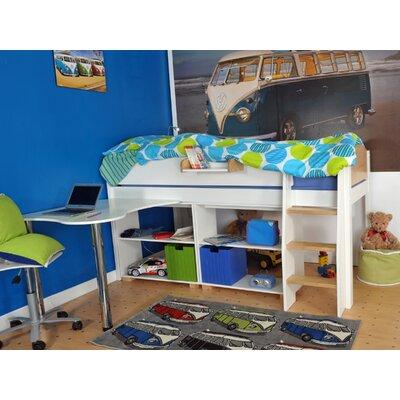 Wrigglebox Norfolk European Single Mid Sleeper Bed with Storage