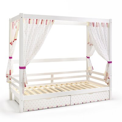 Wrigglebox Papallona Single Canopy Bed with Storage