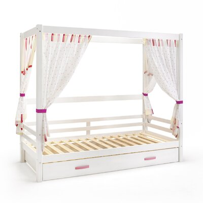 Wrigglebox Papallona Single Canopy Bed with Trundle