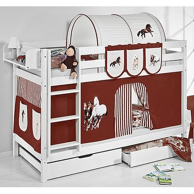 Wrigglebox Belle Horses Bunk Bed with Storage