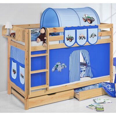 Wrigglebox Belle Tractor Single Bunk Bed with Storage