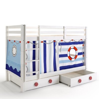 Wrigglebox Papallona Single Bunk Bed with Storage