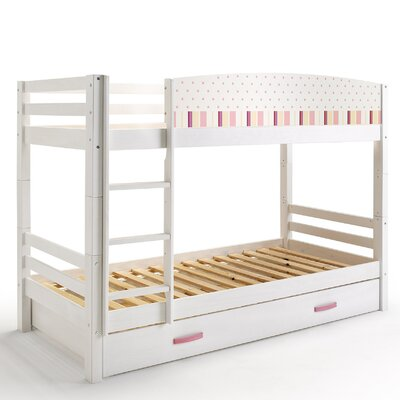 Wrigglebox Papallona Single Bunk Bed with Trundle