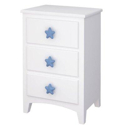 Wrigglebox Snow White 3 Drawer Bedside Table