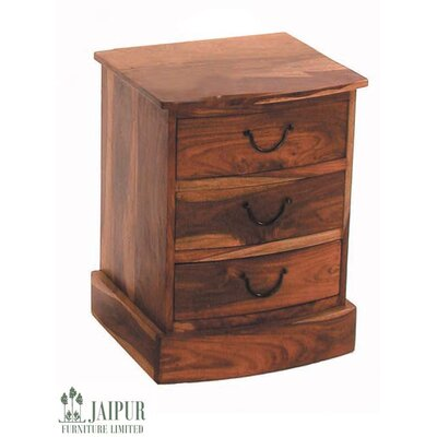 Ethnic Elements Chennai Sheesham 3 Drawer Bowed Chest