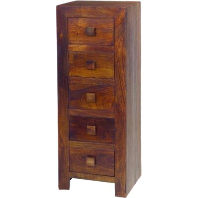 Ethnic Elements Munnar 5 Drawer Chest of Drawers