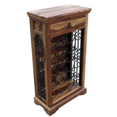 Ethnic Elements Chennai Sheesham 24 Bottle Wine Rack